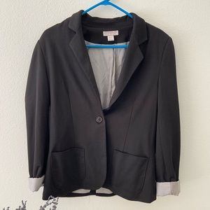 //COTTON ON// Black Cotton Blazer